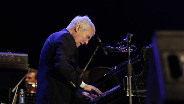 U.S. pianist , composer and music producer Burt Bacharach performs during a concert at the Arena Civica in Milan, Italy, Wedneday, July 6, 2011. (AP Photo/Luca Bruno)